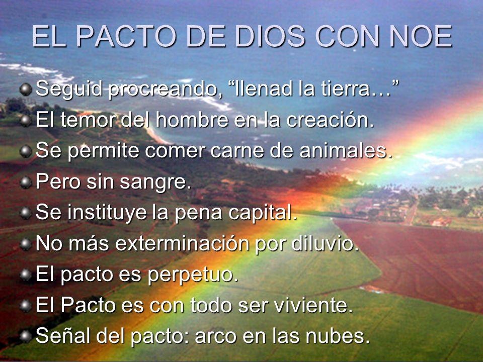 EL PACTO DE DIOS CON NOE Seguid procreando, llenad la tierra…