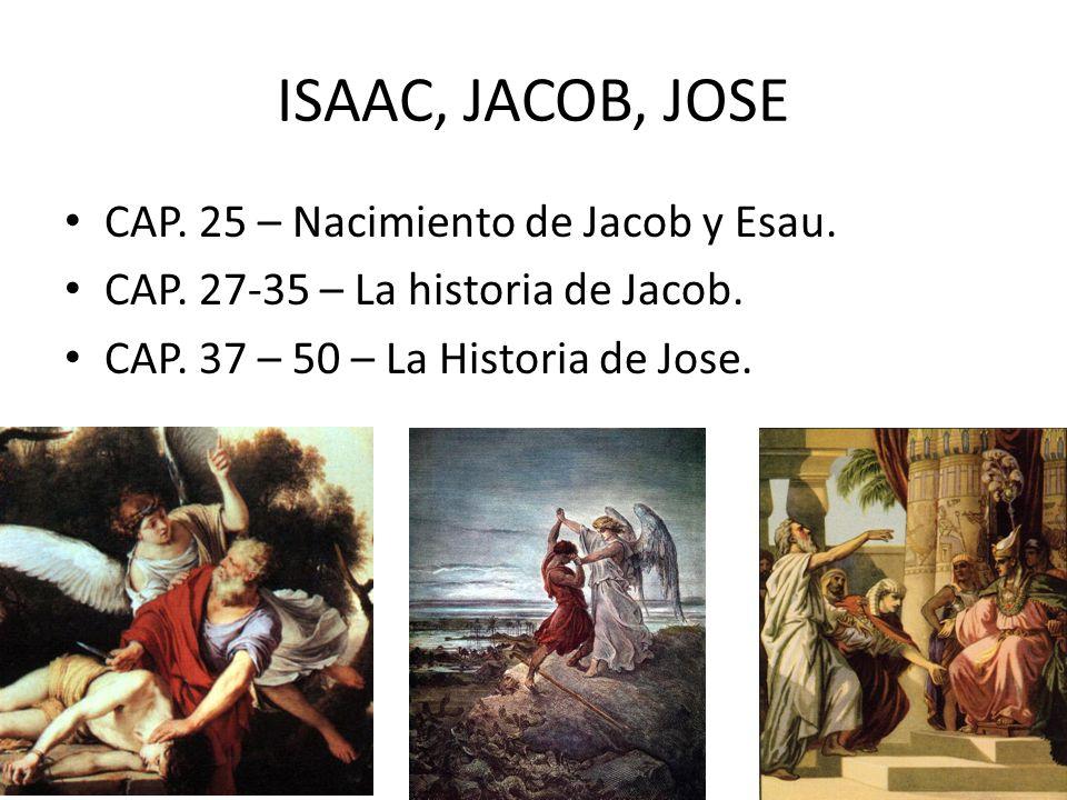 ISAAC, JACOB, JOSE CAP. 25 – Nacimiento de Jacob y Esau.