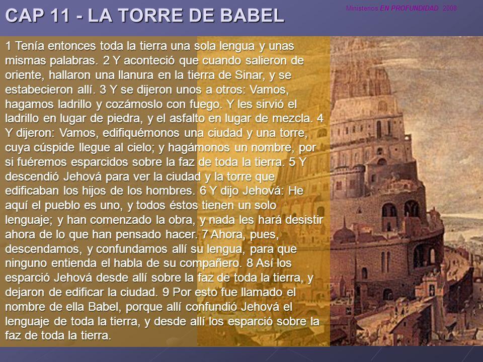 CAP 11 - LA TORRE DE BABEL
