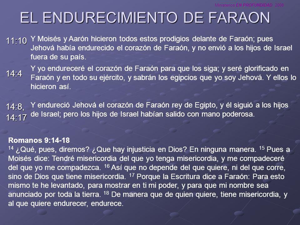 EL ENDURECIMIENTO DE FARAON