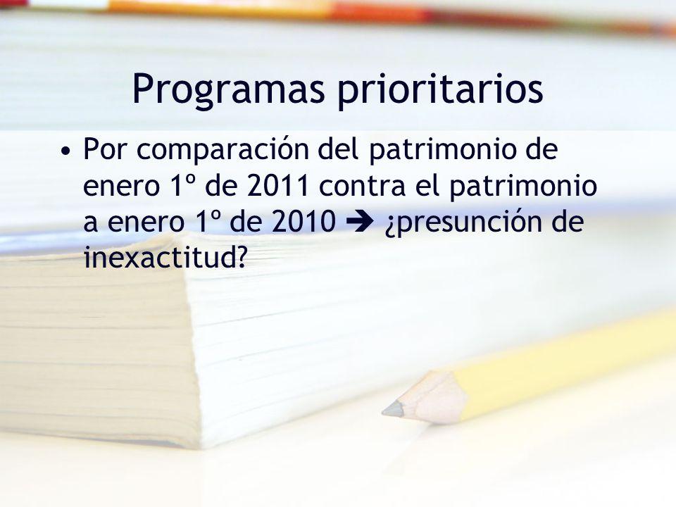 Programas prioritarios