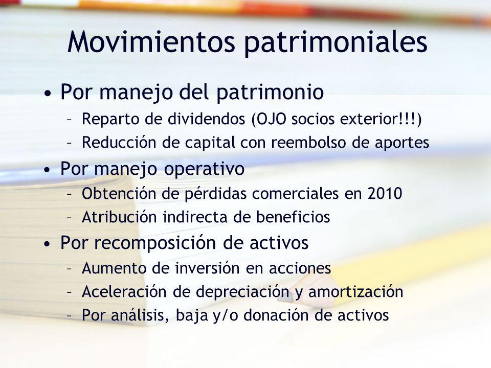 Movimientos patrimoniales