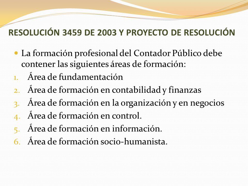RESOLUCIÓN 3459 DE 2003 Y PROYECTO DE RESOLUCIÓN