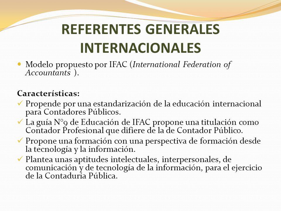 REFERENTES GENERALES INTERNACIONALES