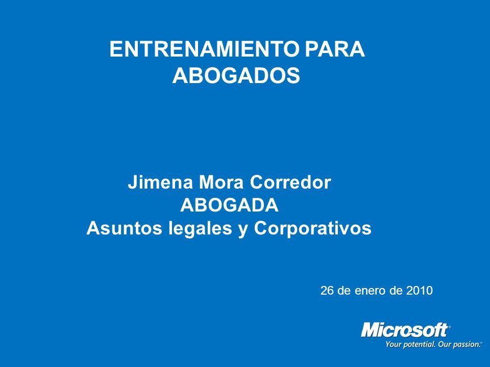 ENTRENAMIENTO PARA ABOGADOS Asuntos legales y Corporativos