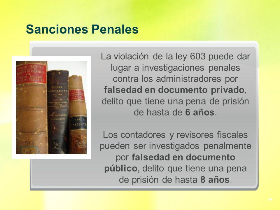 Sanciones Penales