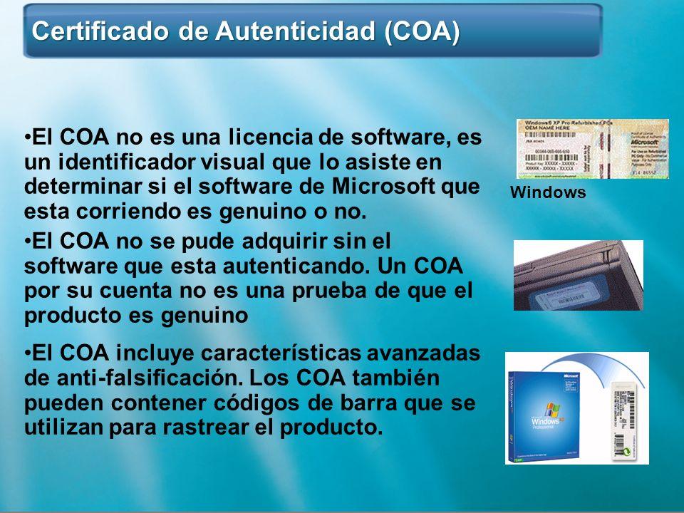 Certificado de Autenticidad (COA)