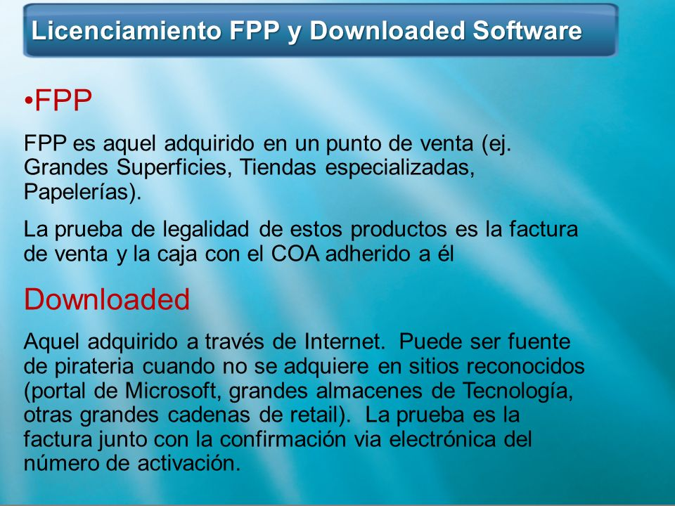FPP Downloaded Licenciamiento FPP y Downloaded Software