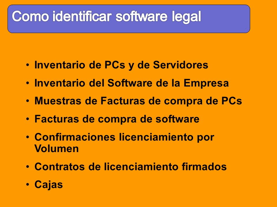 Como identificar software legal