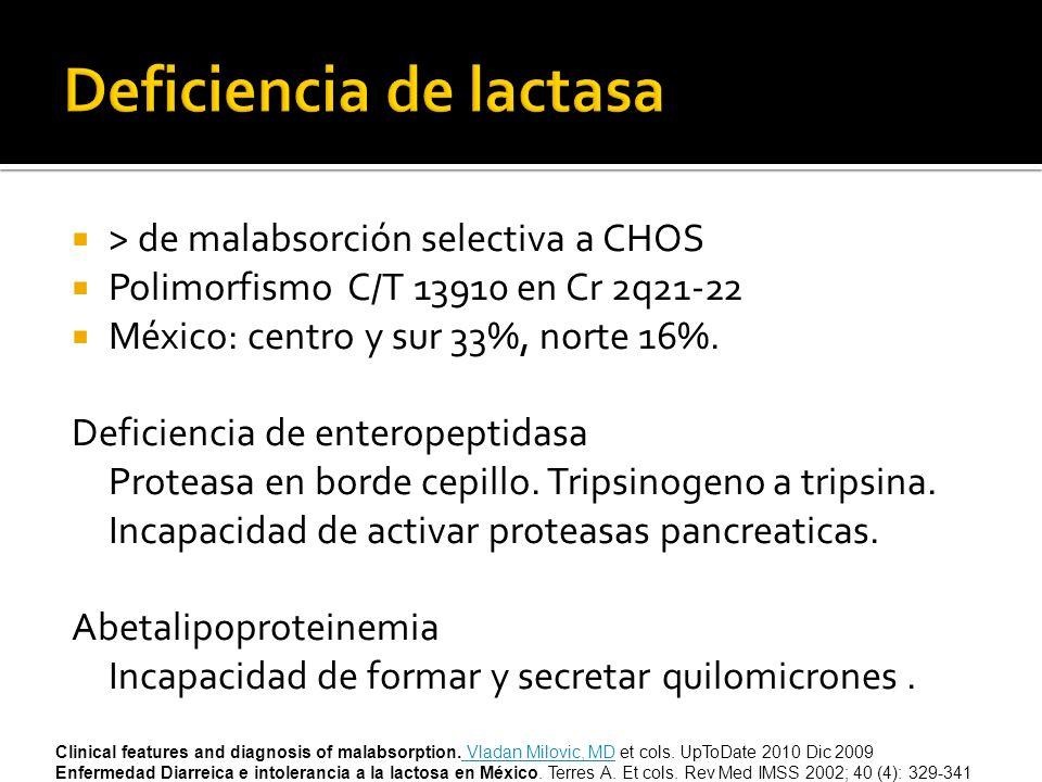 Deficiencia de lactasa