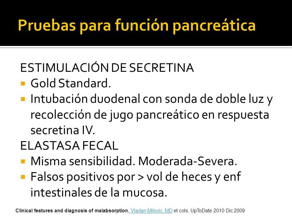 Pruebas para función pancreática