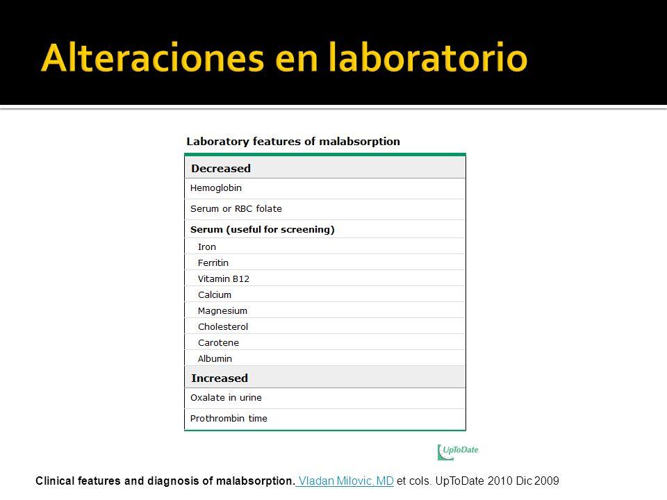 Alteraciones en laboratorio