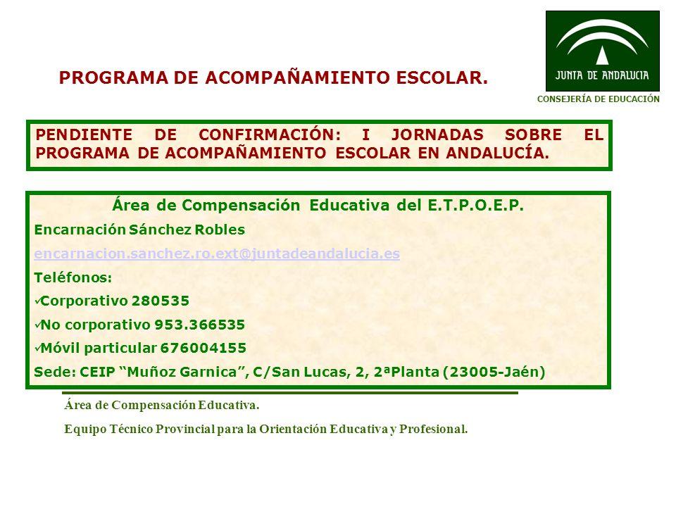 PROGRAMA DE ACOMPAÑAMIENTO ESCOLAR.