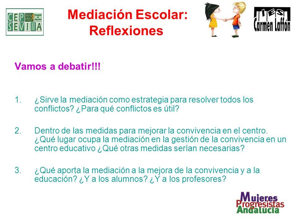 Mediación Escolar: Reflexiones