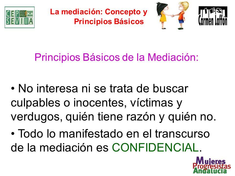 La mediación: Concepto y Principios Básicos