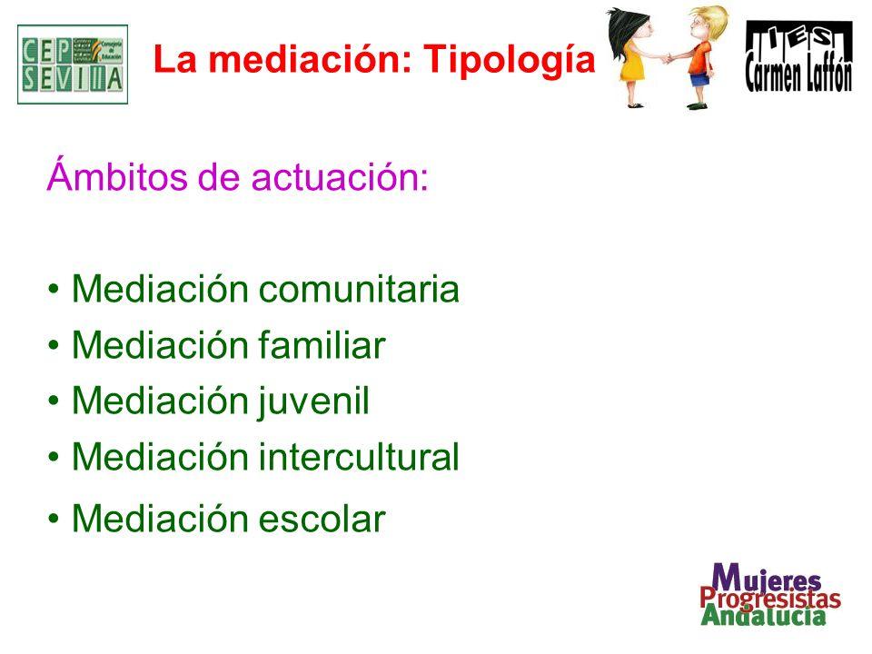 La mediación: Tipología