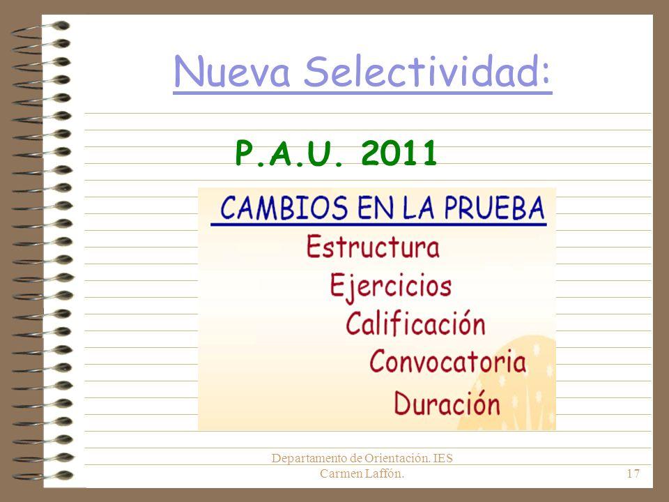 Departamento de Orientación. IES Carmen Laffón.