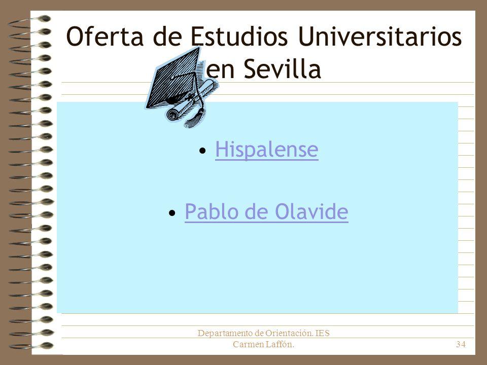 Oferta de Estudios Universitarios en Sevilla