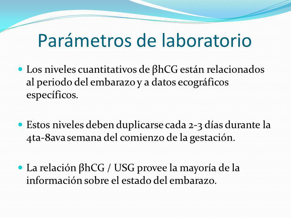 Parámetros de laboratorio