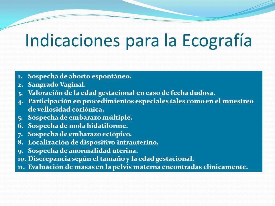 Indicaciones para la Ecografía