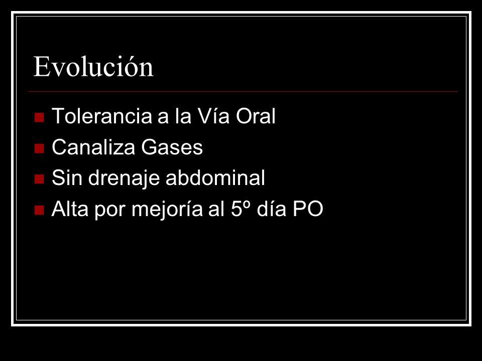Evolución Tolerancia a la Vía Oral Canaliza Gases