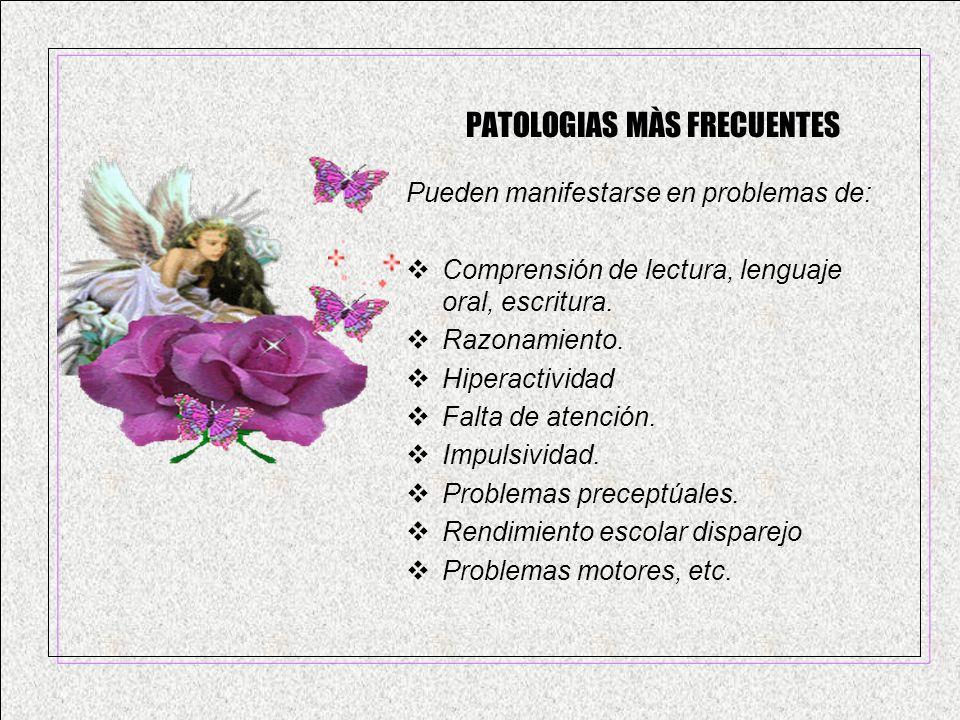 PATOLOGIAS MÀS FRECUENTES