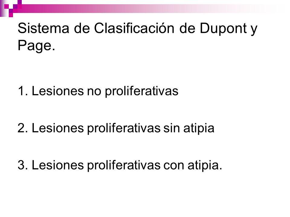 Sistema de Clasificación de Dupont y Page.