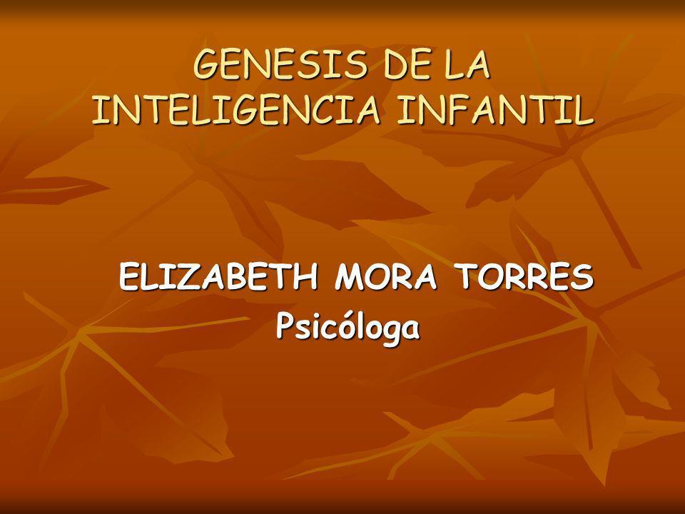 GENESIS DE LA INTELIGENCIA INFANTIL