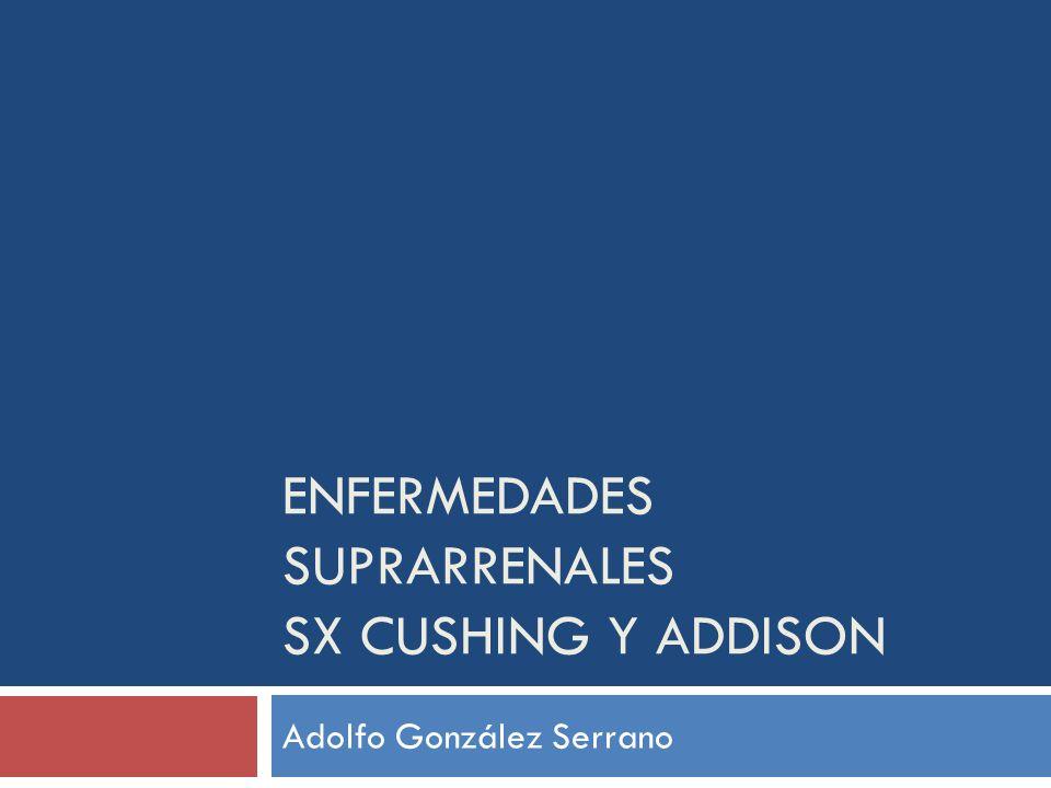 Enfermedades suprarrenales Sx Cushing y Addison