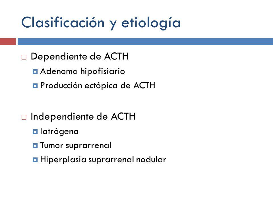 Clasificación y etiología