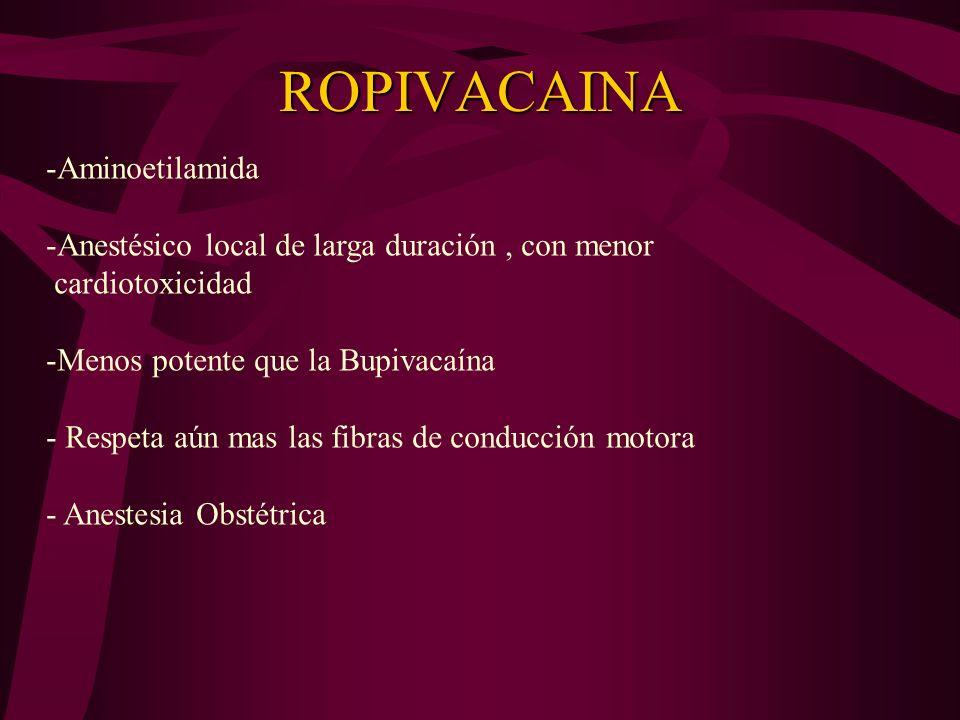 ROPIVACAINA Aminoetilamida
