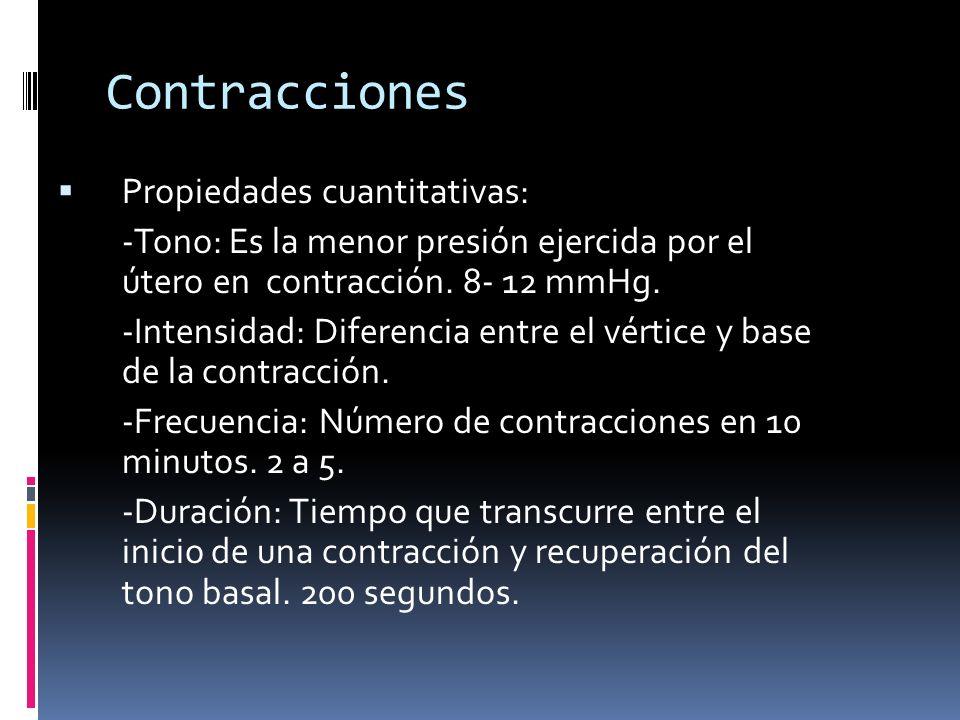 Contracciones Propiedades cuantitativas: