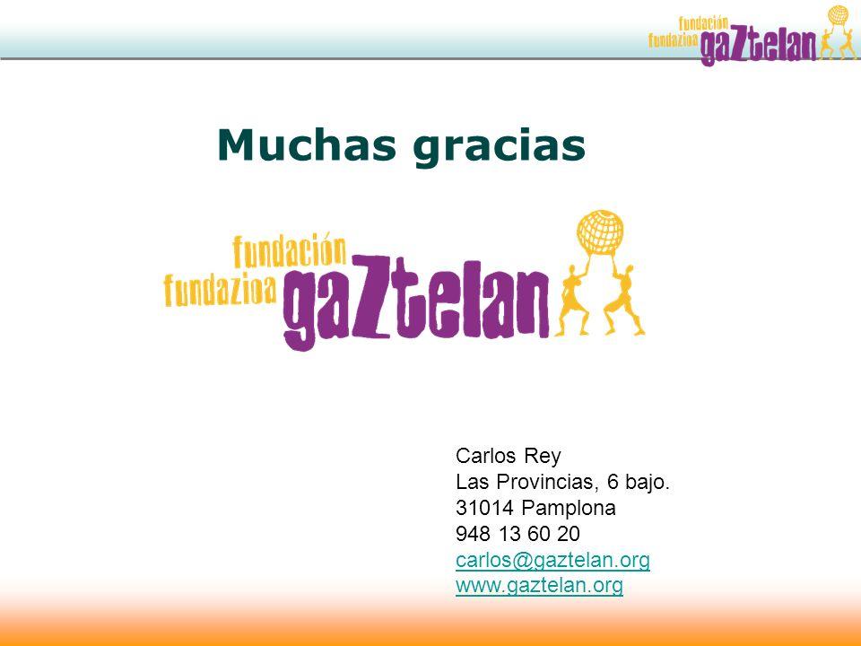 Muchas gracias Carlos Rey Las Provincias, 6 bajo. 31014 Pamplona