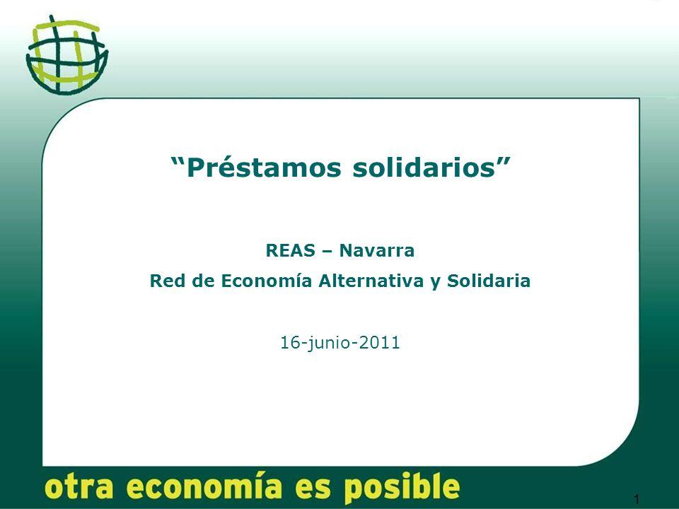 Préstamos solidarios Red de Economía Alternativa y Solidaria