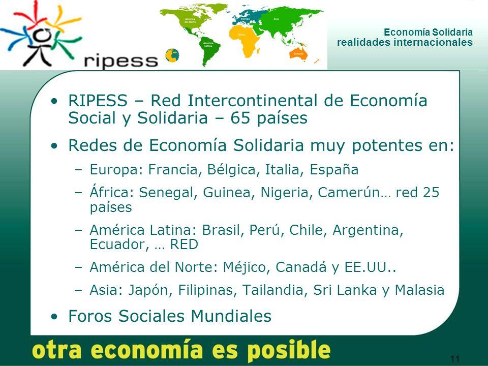 Economía Solidaria realidades internacionales