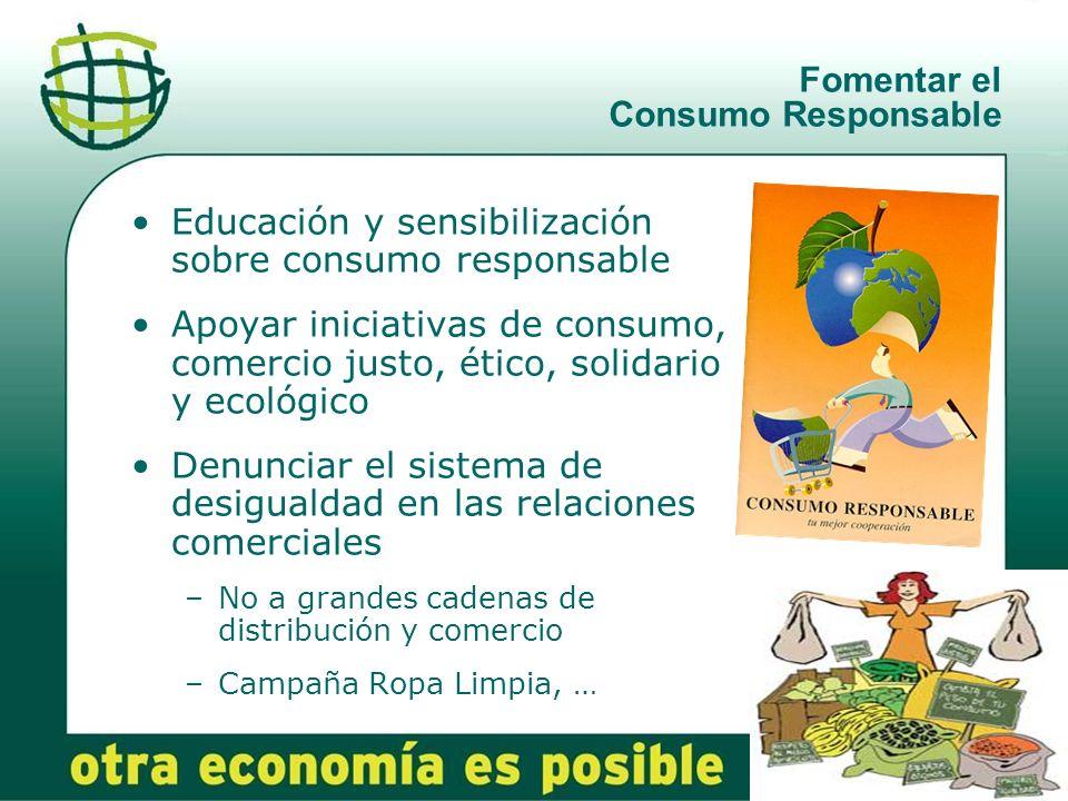 Fomentar el Consumo Responsable