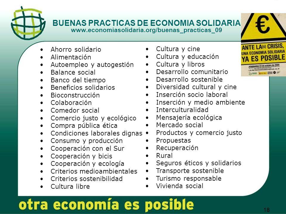 BUENAS PRACTICAS DE ECONOMIA SOLIDARIA www. economiasolidaria