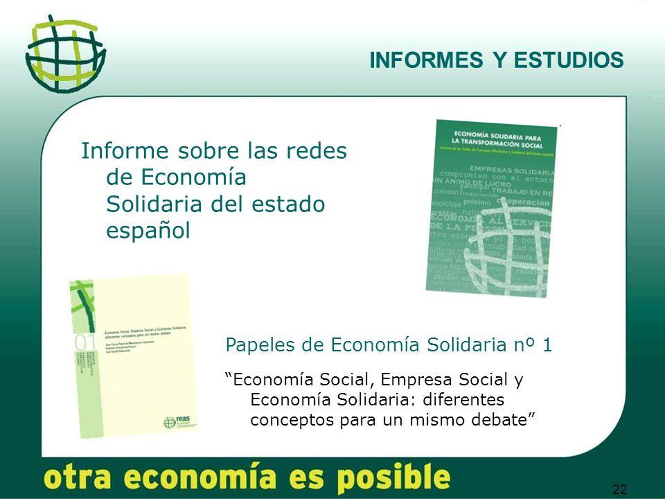 Informe sobre las redes de Economía Solidaria del estado español