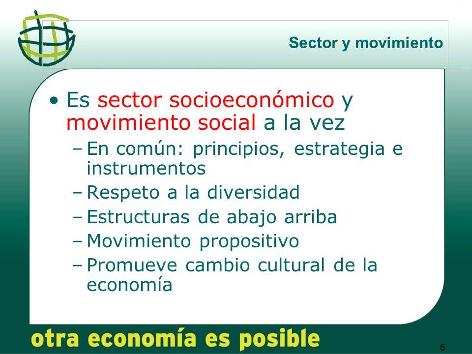 Es sector socioeconómico y movimiento social a la vez