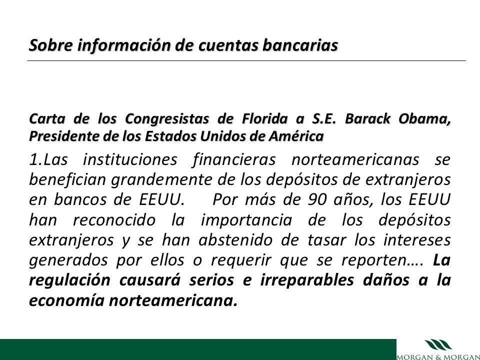 Sobre información de cuentas bancarias