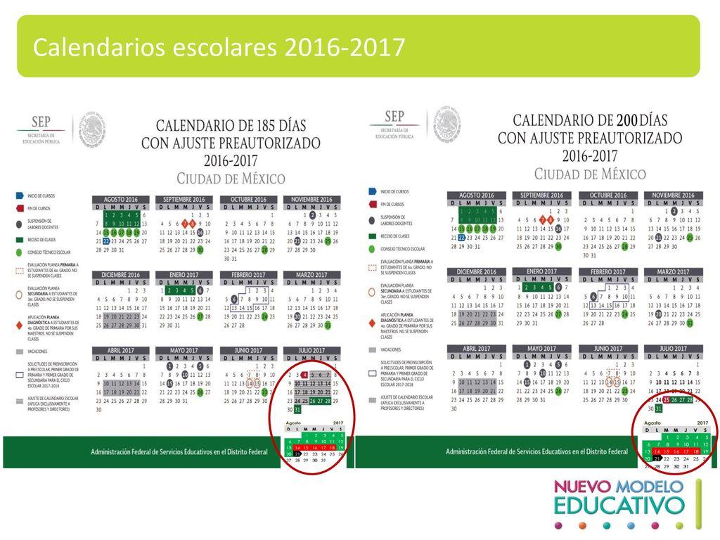 Calendarios escolares 2016-2017