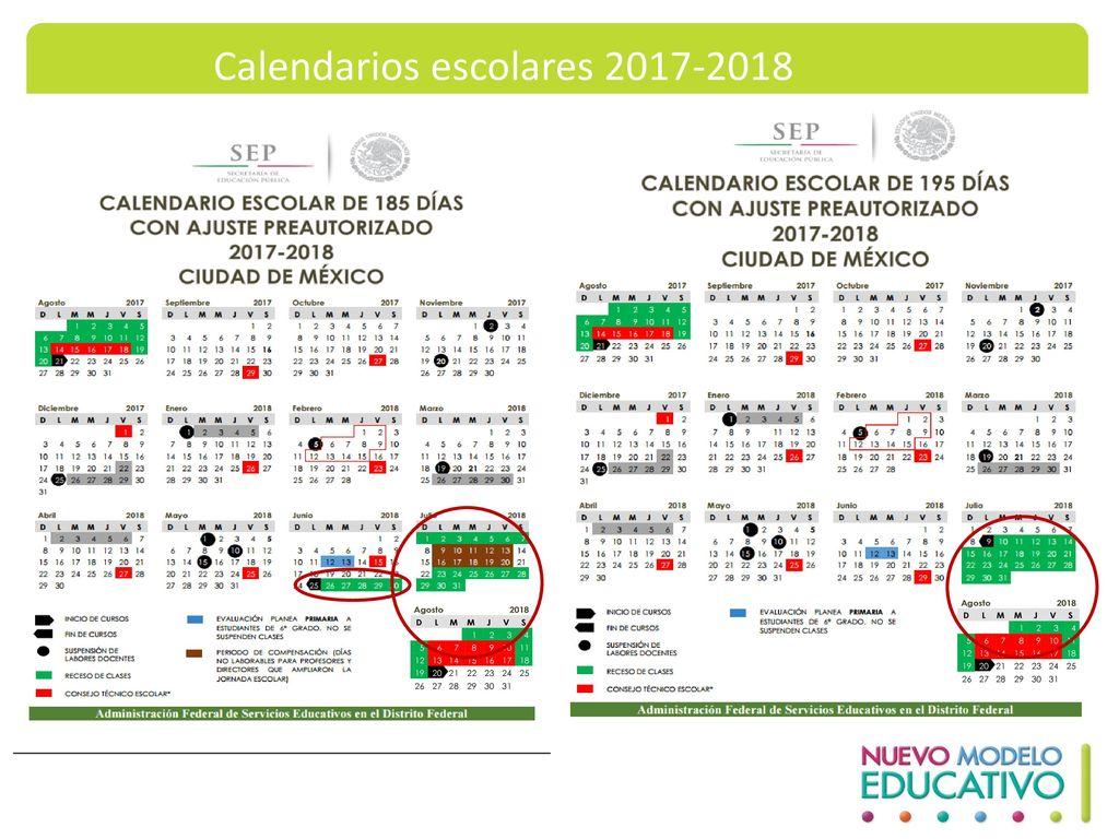 Calendarios escolares 2017-2018