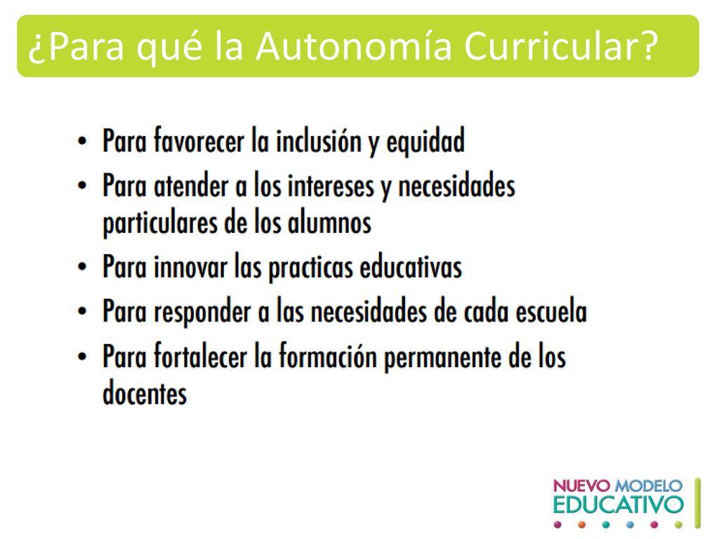 ¿Para qué la Autonomía Curricular