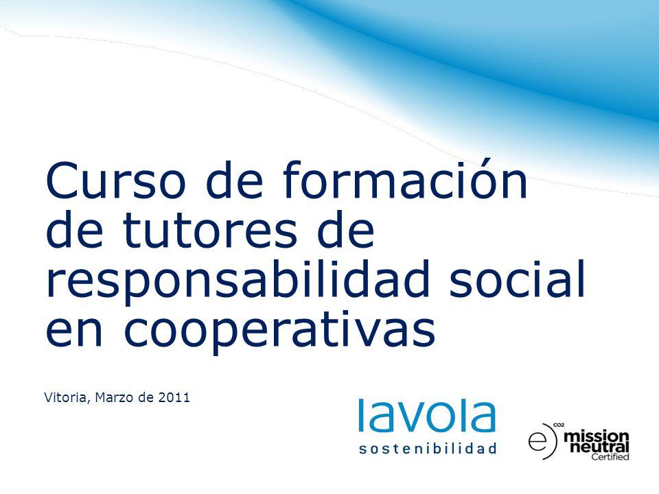 Curso de formación de tutores de responsabilidad social en cooperativas