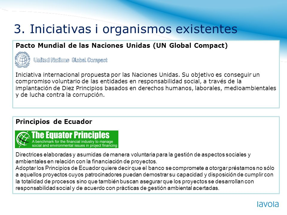 3. Iniciativas i organismos existentes