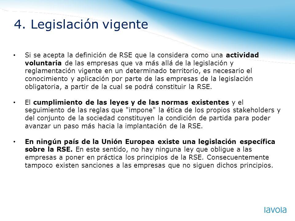 4. Legislación vigente