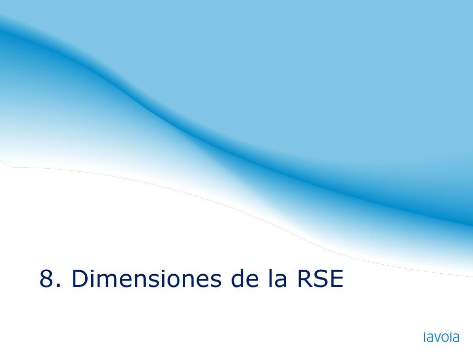 8. Dimensiones de la RSE