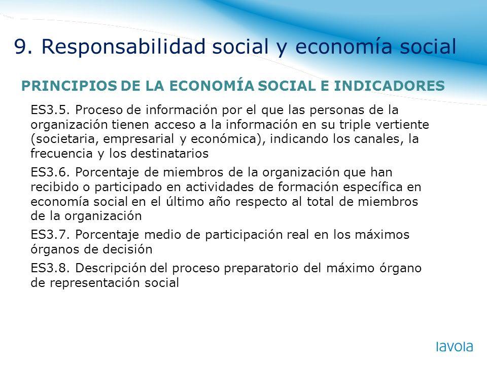 9. Responsabilidad social y economía social