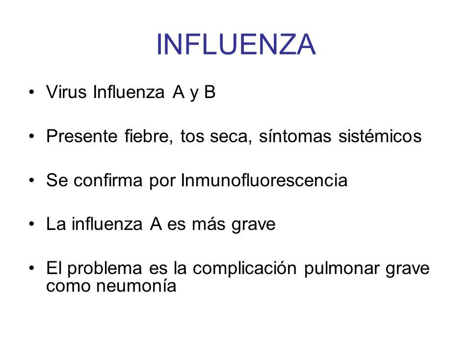 INFLUENZA Virus Influenza A y B