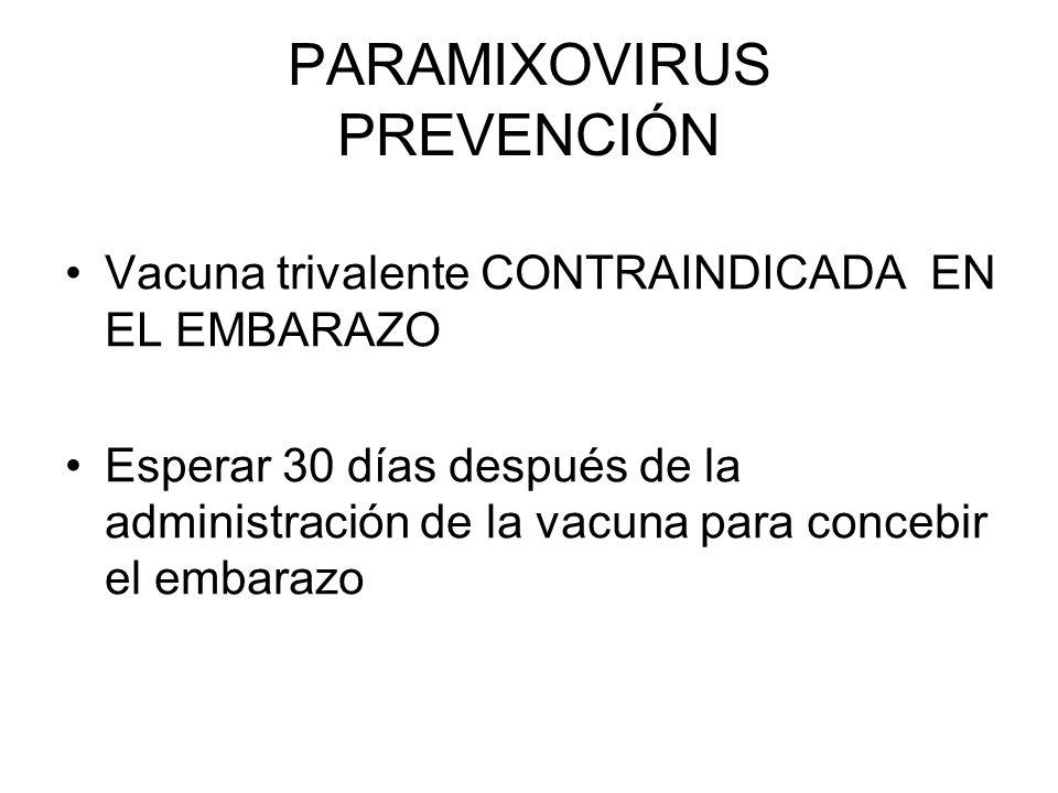 PARAMIXOVIRUS PREVENCIÓN